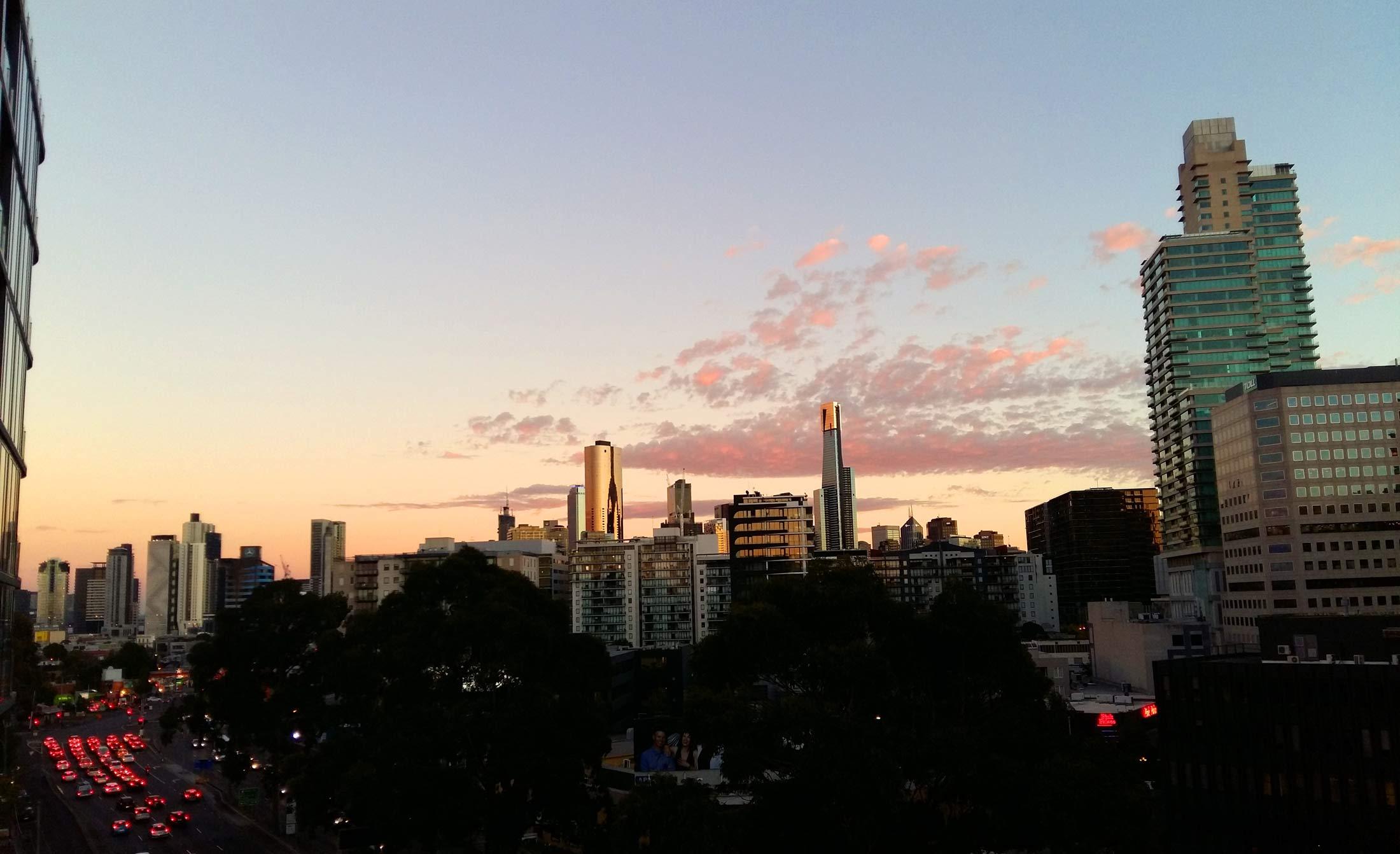 Melbourne City Skyline 2015