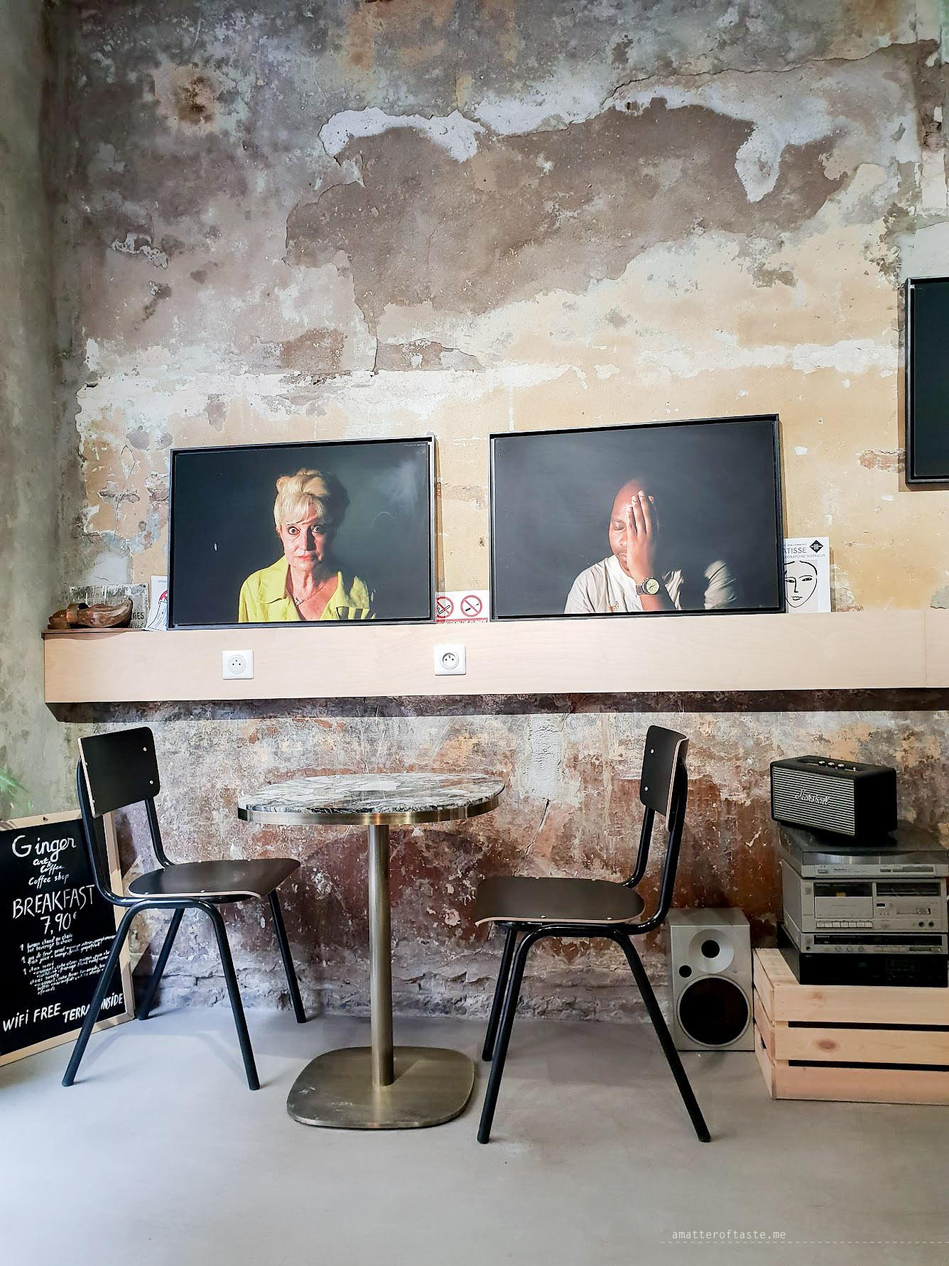 Ginger marseille coffee shop interior